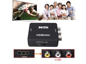 Mini Flexible HDMI to RCA Audio Video AV CVBS HD TV Adapters Converter USB 720p/1080P