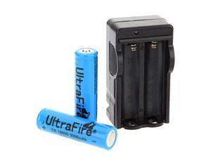 2x3800mAh 18650 3.7V Battery+Smart Dual Charger for Flashlight Torch Head Light