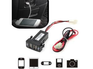Universal Dual 2-port USB Auto Car Charger Adapter for Smart phone Cellphone MP4 3 Camera