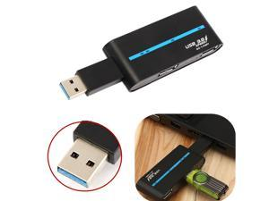 Portable High Speed 4 Ports USB 3.0/2.0 External Multi Hub Splitter Adapter for PC Laptop