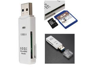 2 in 1 USB 3.0 Micro SD SDXC TF T-Flash Memory Card Reader Adapter UP TO 64GB