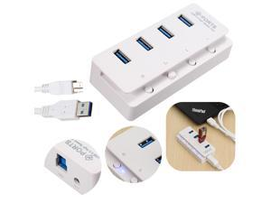 High Speed 4 Ports USB 3.0 Hub Multi Splitter Expansion for PC Laptop Windows 7