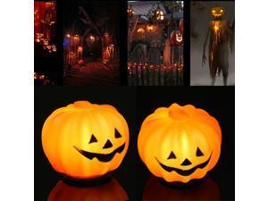 LED Pumpkin Jack-O-Lantern Night Light Halloween Decoration Props Carnival Party