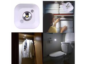 Mini Infrared Motion Sensor Ceiling Night Light Battery Powered Porch Lamp (batteries not included)