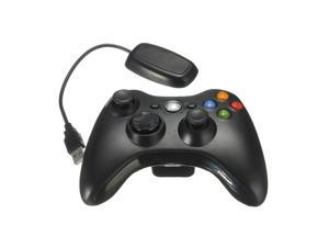 Black 2.4GHz Wireless Game Remote Controller + PC USB  Receive for Xbox 360 Xbox360 Console PC laptop