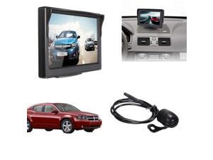 "5"" TFT LCD Car Waterproof Monitor + Rear View CMOS Night Vision Reverse Camera 170° Angle IP67"