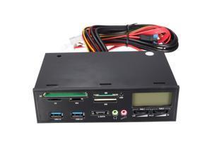 "5.25"" PCIE USB 3.0 e-SATA All in 1 Media Dashboard Front Panel Multi Card Reader MS SD MMC TF MD USB"