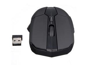 2.4 GHz Wireless Optical Mouse Mice 1600-2000DPI + USB 2.0 Receiver for Windows 98 / ME / NT / 2000 / XP / Vista / Win 7 / Linux or Mac OS PC Laptop Black