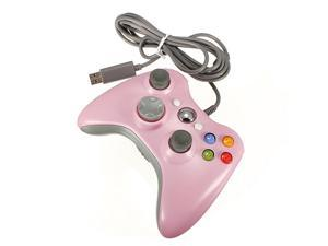 USB Wired Game Pad Joypad Gamepad Controller For MICROSOFT Xbox 360 Xbox360 & Slim PC Win7/XP Game System Pink