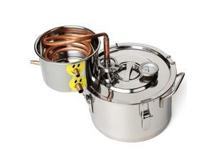 2 Gal 8L Copper Alcohol Water Distiller Moonshine Ethanol Still Stainless Boiler-Preorder will arrive on January 21th