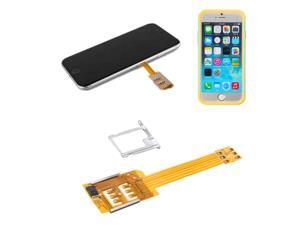 Dual SIM Card Adapter Converter + Case Cover For iPhone 6 Plus Supported iOS7/8