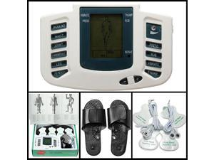 Digital Electrical Stimulator Full Body Relax Massager Pulse Acupuncture Therapy & Slipper + Foot Massager