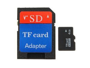 4 GB Micro SD SDHC Secure Digital High Speed Flash Memory Card Class4 with SDHC Adapter