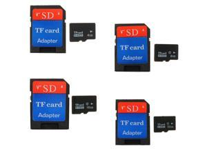 One Set 4GB Micro SD SDHC Secure Digital High Speed Flash Memory Card Class4 with SDHC Adapter (4-pack)
