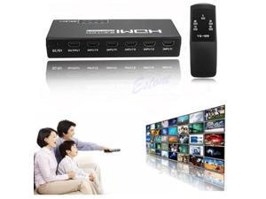 5 Ports Switch 1080P HDMI Selector Splitter W/ Remote Contol For HDTV PS3 DVD Xbox 360 or Wii with IR Remote Control