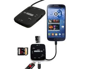 Micro USB Host Adapter Connection HUB OTG Cable SDHC USB  Card Reader Hub 3 in1 for Galaxy S5