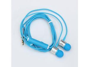 Fashion Wired 3.5mm Braided Rope In Ear Stereo Headphone Earphone Headset For iPhone Samsung HTC Blackberry With Mic