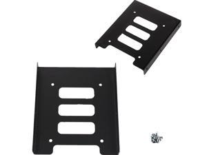 Metal 2.5''SSD HDD To 3.5'' Mounting Holder Bracket Adapter Dock Atx Case Black