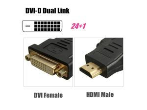 24k Gold Plated DVI-D Female to HDMI Male F/M Adapter Converter 24+1(DVI-D) LCD HDTV DVD
