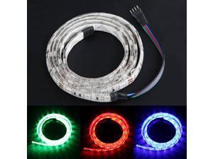 1M 100cm 3FT 60 SMD LED 5050 Strip Light Lamp Waterproof 3 Color RGB Flexible Light Bulbs DC 12V