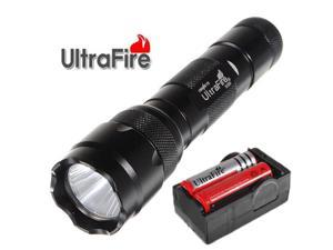 UltraFire WF-502B 2000LM XM-L2 T6 LED Tactical Flashlight + 2x18650 Battery + Charger