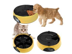 LCD Dog Cat Animal Pet Feeder Meal Dispenser Food Bowl Dish Automatic Program Digital Automatic 6 Meal