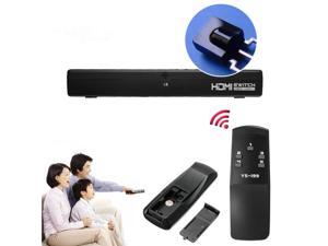 New 5 Ports Switch 1080P HDMI Selector Splitter W/ Remote Contol For HDTV PS3 DVD Xbox 360 or Wii with IR Remote Control