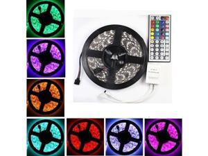 5M RGB 5050 SMD 300 Flexible LED Light Strip 12V DC + 44 keys IR Remote Controller
