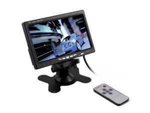7'' (Inch) TFT LCD Color Car Rear View Monitor VGA DVD VCR for Reverse Backup Camera + Remote Control