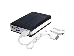 50000mAh Portable Super Solar Panel Power Charger Dual USB External Battery Power Bank For Phone iPhone iPad iPod + 2835 SMD 20 LEDs LED Flashlight