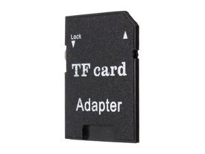Five Star Inc TransFlash TF Card/Micro SD Card to SD SDHC Memory Card Adapter Converts Black Support 4GB 8GB 16GB 32GB 64GB 128GB Capacity