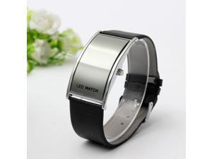 5Color Mens Women,s Ladies Digital LED Watch Time Sports Leather Wrist Bracelet Gift