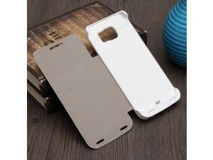 4200mAh Flip External Battery Power Bank PU Leather Case For Samsung Galaxy S6