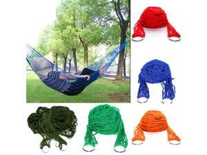 Nylon Hammock Hanging Mesh Net Sleeping Bed Swing Outdoor Camping Picnic Travel