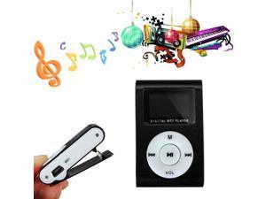 Metal Clip MP3 Music Player FM Radio LCD Screen for Micro SD/TF Card 8GB 16GB