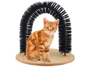 Durable Purrfect Pet Cat Kitty Arch Bristles Kitten Self-Groomer Massager Scratcher Catnip Toy