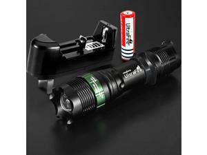 UltraFire 1200LM CREE XM-L T6 LED Zoomable Waterproof Flashlight for Outdoor/Camping/Hiking (1*18650 + Charger)