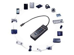 USB-C Type C Multiple USB 3.0 4 Port  Adapter HUB Type For PC Apple Macbook