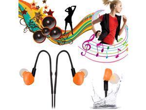 IPX8 3.5mm Sports Headset Headphone Earphone Earplug Waterproof For iPhone 6+ S6 M9 LG G4