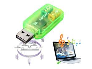 External USB 2.0 to 3D Virtual Audio Sound Card Adapter Converter 7.1 CH For PC