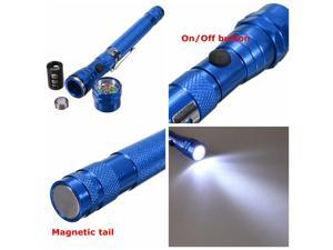 3 LED Torch Telescopic Zoomable Flex Magnetic Lamp Flashlight - Blue