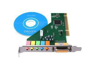PCI 5.1 PC 6 Channel 3D Audio Stereo Internal  Sound Card For Windows 8/7/Vista