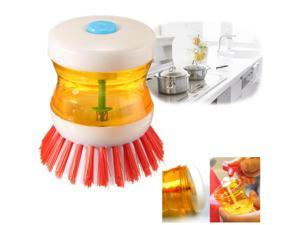 Plastic Kitchen Wash Tool Pan Dish Bowl Cleaning Brush Scrubber Cleaner Gadget