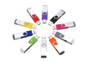 Lot 10pcs 1GB USB2.0 Swivel Bright Flash Memory Stick Drive Storage Thumb U Disk
