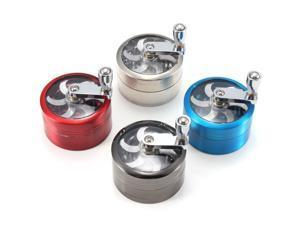 Tobacco Grinder Aluminum Herb Spice Crusher Storage Muller Mill Hand Crank 4 Colors Zinc Alloy