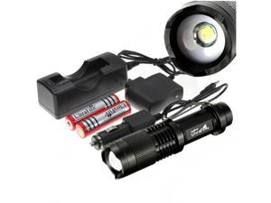 UltraFire 2200lm CREE XM-L T6 LED Zoomable Adjustable Flashlight - 5 Modes + 2X18650 + Charger Set