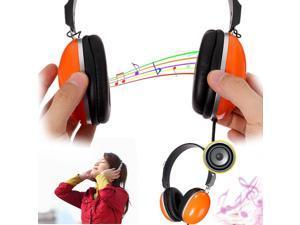 KINBAS 3.5mm Headset Surround Hifi Stereo Headband Headphone Earphone Volume Control w/ Mic