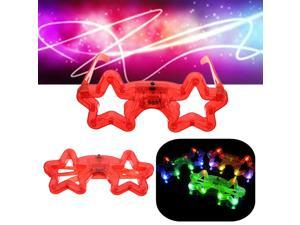 Party LED Five-pointed Star Glasses Digital Eyewear Night Light Flashing Birthday Christmas Xmas Gifts