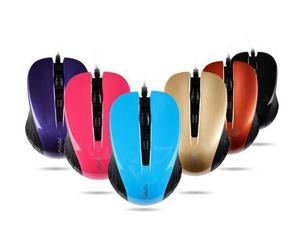Mini Multi-Color USB Wired Mouse Scroll Wheel 4 Buttons For Laptop Desktop