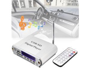 Mini MP3 USB SD Digital Player FM Radio with Remote Control, LED Display, Headphone Out
